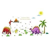 恐竜ジュラシック·パーク植物ウォールステッカーデカールホームインテリアpvc壁画壁紙ハウスアート画像リビングルーム大人シニアティーン子供赤ちゃんの寝室の装飾