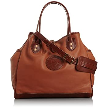 Leather Tote w/ Strap 7642: I Natural
