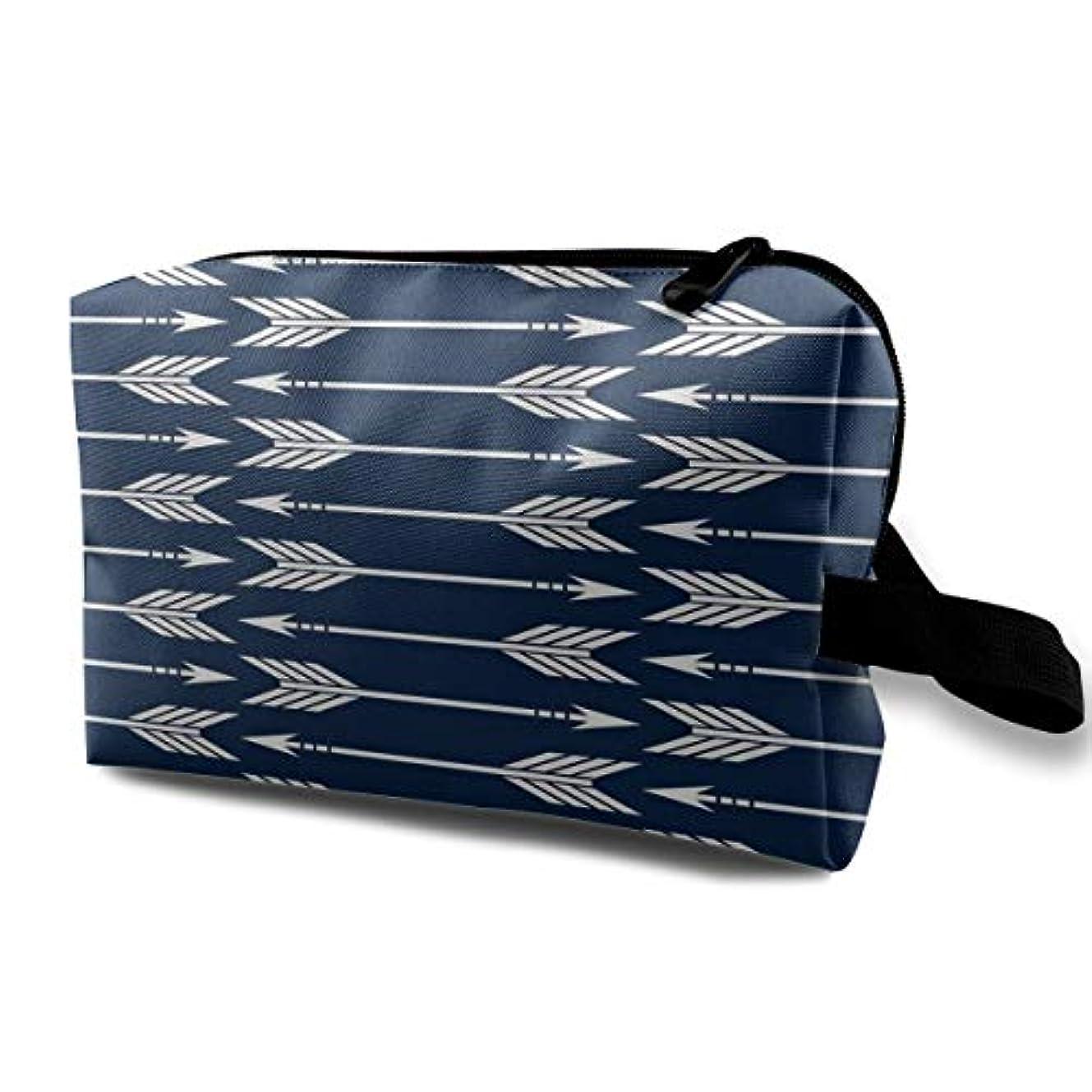 デモンストレーションスーツケース徒歩でArrows Navy 収納ポーチ 化粧ポーチ 大容量 軽量 耐久性 ハンドル付持ち運び便利。入れ 自宅?出張?旅行?アウトドア撮影などに対応。メンズ レディース トラベルグッズ