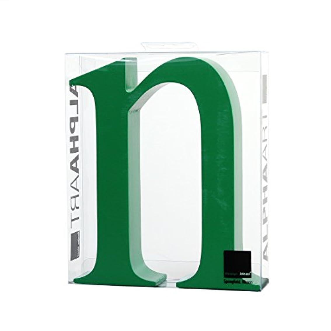 伝導厳密に制約カメヤマキャンドルハウス アルファベットブロック カラフル  アルファアートスモールn 「 グリーン 」
