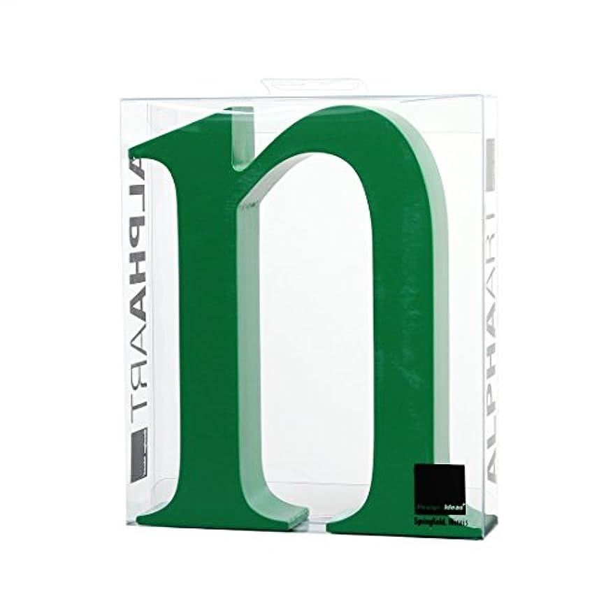 回復する信号ビリーカメヤマキャンドルハウス アルファベットブロック カラフル  アルファアートスモールn 「 グリーン 」
