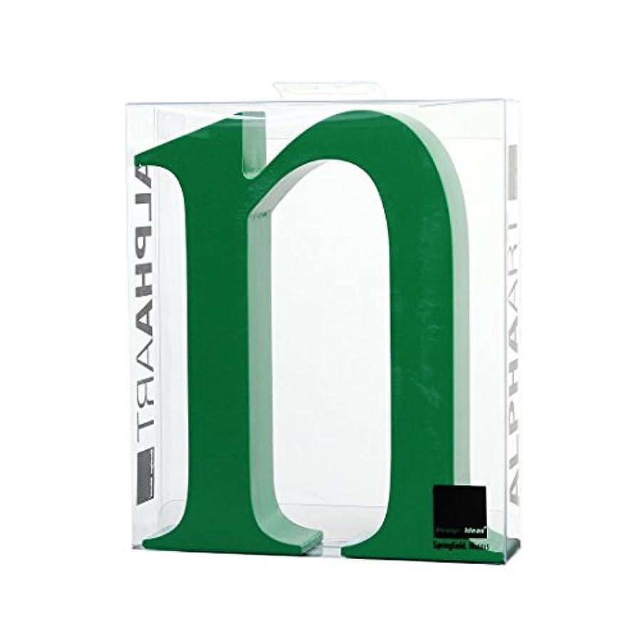 フィヨルドホイップ第三カメヤマキャンドルハウス アルファベットブロック カラフル  アルファアートスモールn 「 グリーン 」