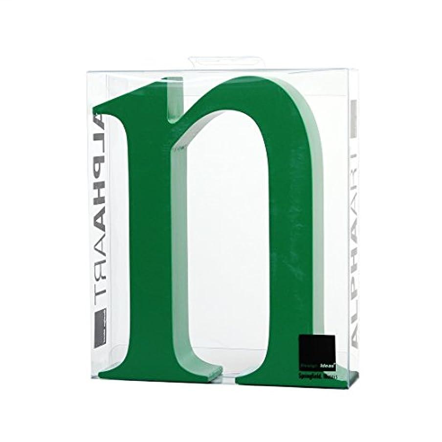 認証パーセントシャープカメヤマキャンドルハウス アルファベットブロック カラフル  アルファアートスモールn 「 グリーン 」