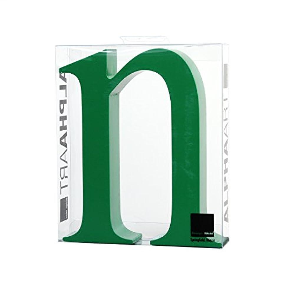 貫通する一般的に言えば努力するカメヤマキャンドルハウス アルファベットブロック カラフル  アルファアートスモールn 「 グリーン 」