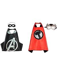 アテナドレスUpアベンジャーズ& Thor 2 Capes、2マスクギフトボックス付属