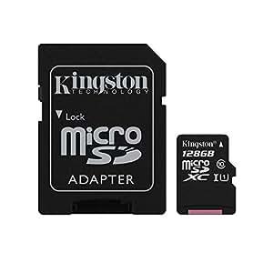 キングストン Kingston microSDXCカード 128GB クラス 10 UHS-I 対応 アダプタ付 SDC10G2/128GB 永久保証