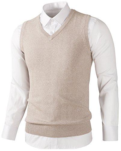 [해외]LittleKK 베스트 남성 니트 베스트 V 넥 비즈니스 캐주얼면 무지 9501/LittleKK best men`s knit vest V neck business casual cotton plain 9501