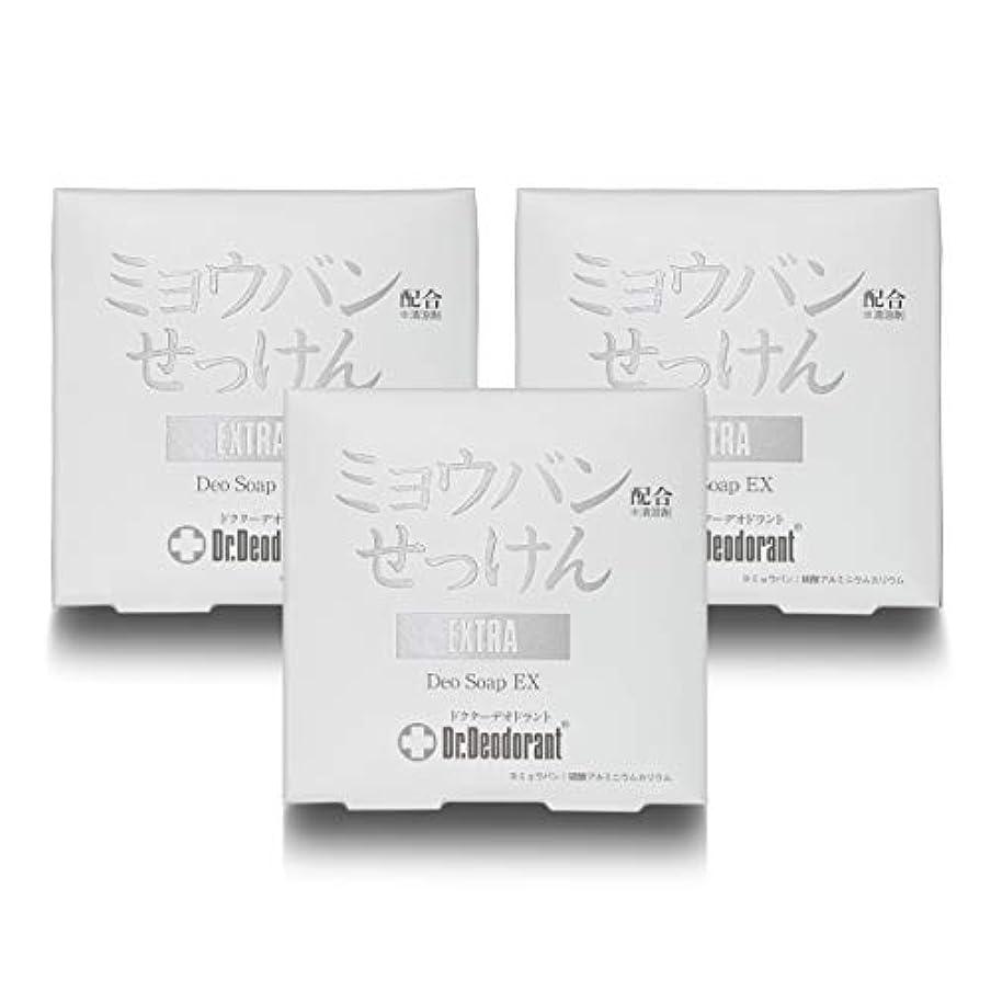 徹底チョップミンチドクターデオドラント 薬用ミョウバンせっけんEX (3個セット)