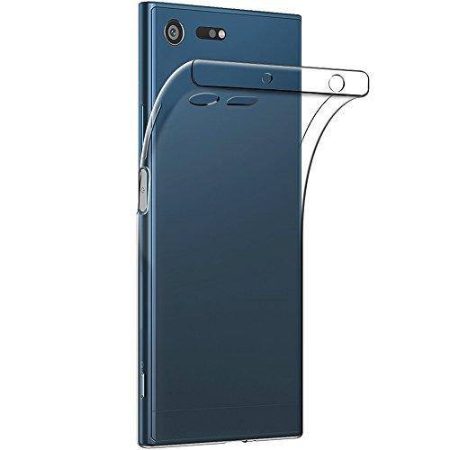 Sony Xperia XZ Premium ケース 【Qosea】Sony Xperia XZ Premium 保護カバー 高品質 TPU シリコン ケース 落下防止 衝撃吸収 防指紋 超薄型 軽量TPU素材 ケース (Sony Xperia XZ Premium, 透明)