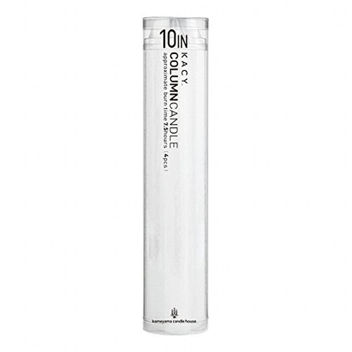 はず純粋なダイバーカメヤマキャンドル( kameyama candle ) 10インチコラムキャンドル4本入り 「 ホワイト 」