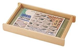 パール金属 木製 ざる そば 皿 ワイド 3~4人用 涼味処 竹 すのこ付 日本製 H-5106