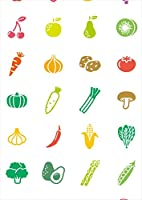 ポスター ウォールステッカー シール式ステッカー 飾り 364×515㎜ B3 写真 フォト 壁 インテリア おしゃれ 剥がせる wall sticker poster pb3wsxxxxx-009221-ds カラフル 食べ物 イラスト