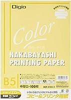 ナカバヤシ コピー用紙 カラータイプ 100枚入 B5 イエロー HCP-5101-Y
