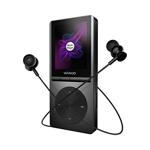 Wiwoo MP3プレーヤー Bluetooth対応 MP3プレイヤー 運動音楽プレーヤー アームバンド付く AUX線付き?車対応 ハイレゾ HIFI超高音質 合金製 内蔵16GB マイクロカード対応 (MP3-H5)