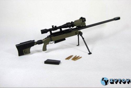 TAC-50 緑色 スナイパーライフル銃 12インチ フィギュア用 ガン付属パーツ 1/6