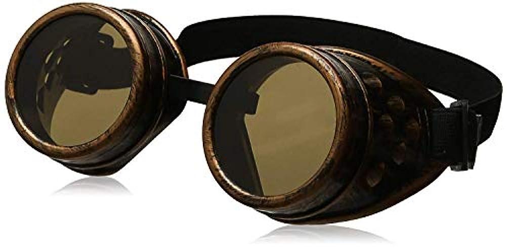 ボルト医師配送サイバーゴーグルSteampunk Cosplay Vintage Goggles Rustic(Copper)