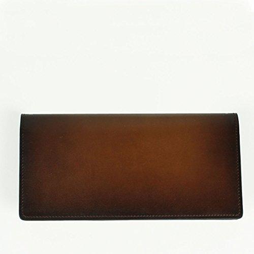 ブラウン(C30) F ARALDI 1930(アラルディ)タンポナート レザー 2つ折り長財布 ARBP285 TAMPONATO TAN (ブラウン)