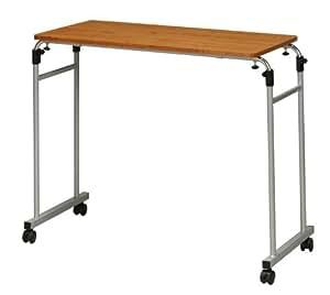 永井興産 伸縮式ベッドテーブル ブラウン