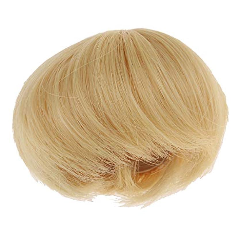 盆地冷ややかな反対するsharprepublic ドール 人形 ウィッグ かつら ヘアウィッグ 短い髪 1/8スケールBJD人形用 アクセサリー ゴールド