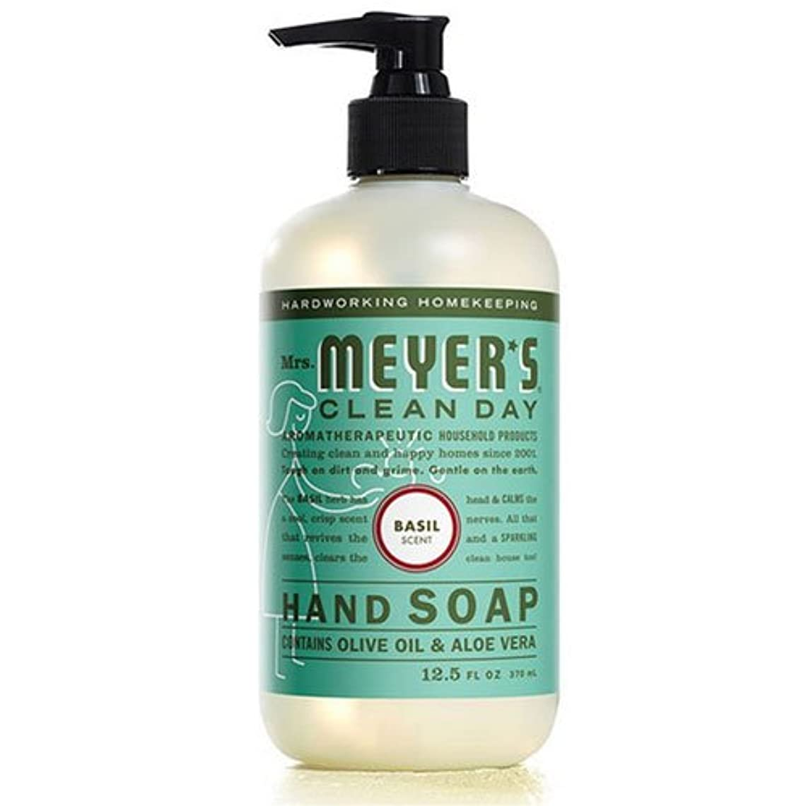 不名誉な注入する誰Mrs. Meyers's Hand Soap, Liq, Basil, 12.5 FZ by Mrs. Meyers