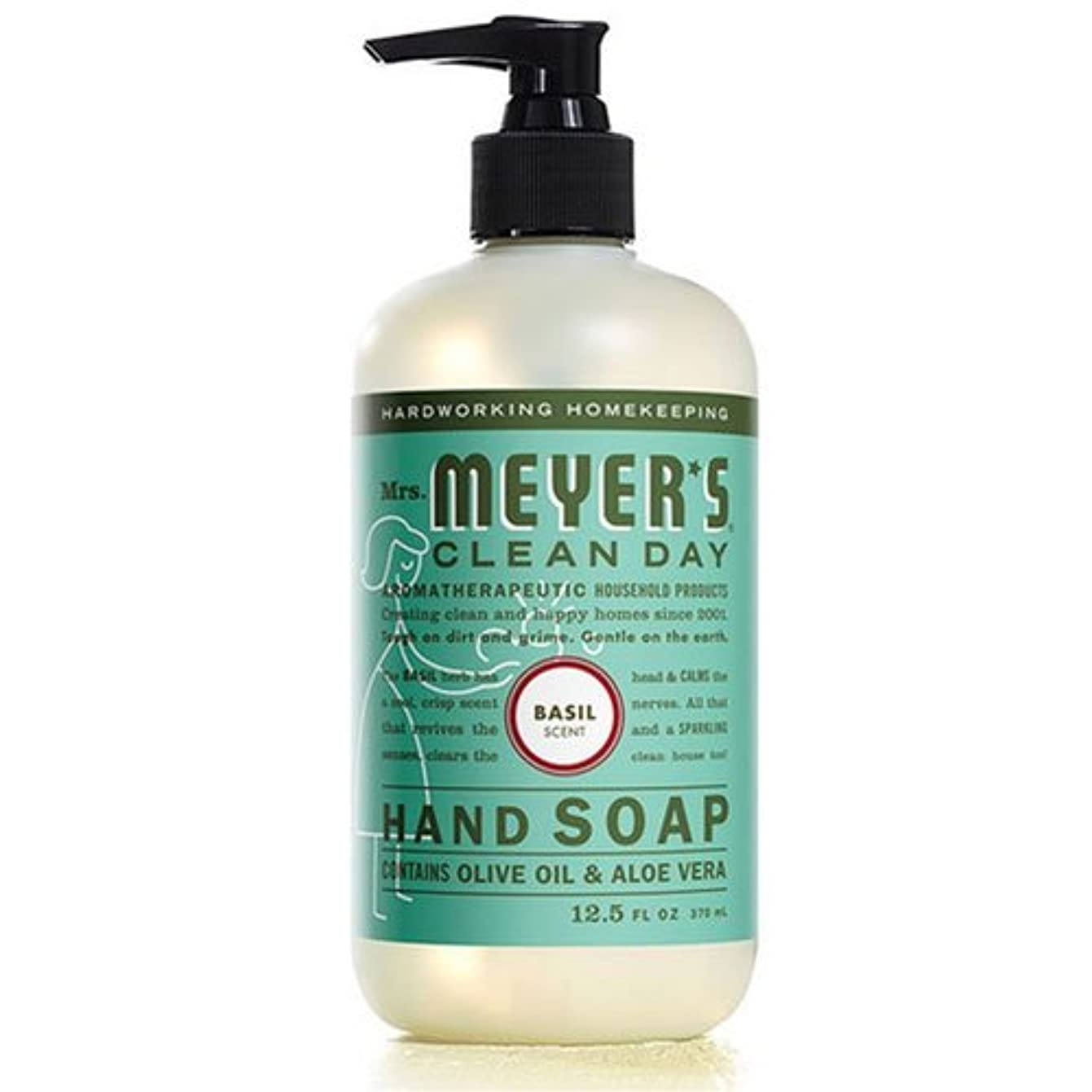 トランクライブラリ月面汚染されたMrs. Meyers's Hand Soap, Liq, Basil, 12.5 FZ by Mrs. Meyers
