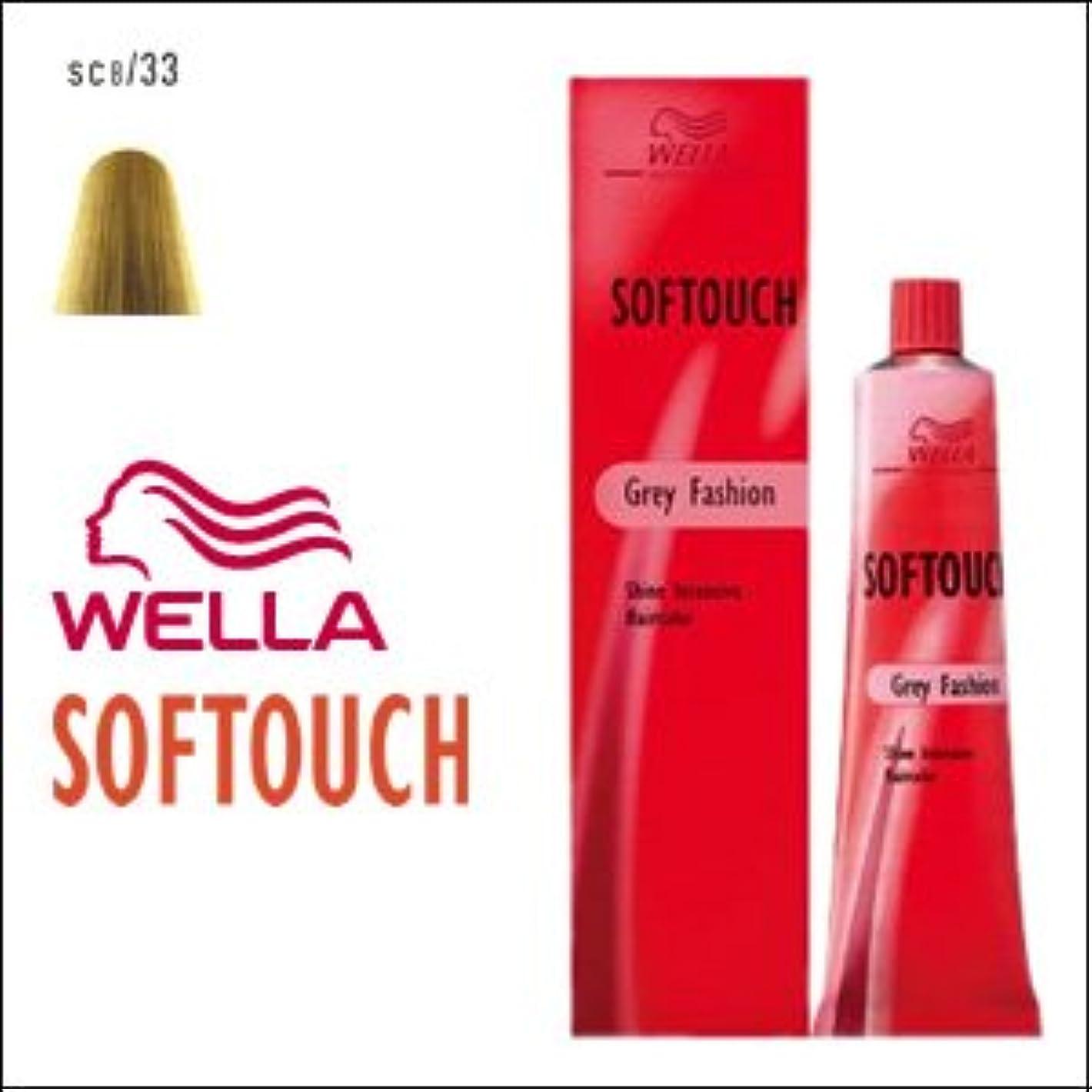 順応性のある窓を洗う第ウエラ ヘアカラー ソフタッチ SC8/33 60g
