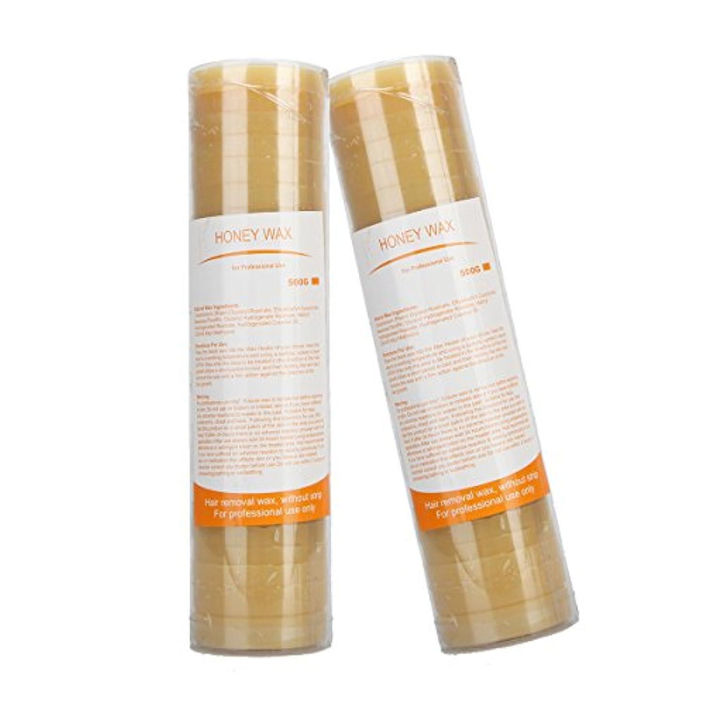 (アーニェメイ)Bonjanvye 脱毛 ワックス ハード 500g 2缶 ブラジリアンワックス ハードタイプ ワックス脱毛 キット-はちみつとはちみつ