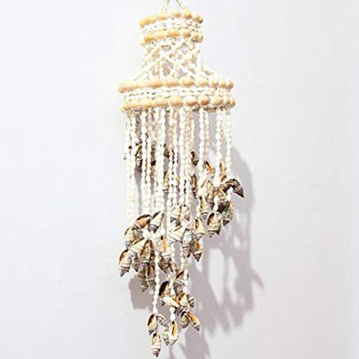 普通に広告する意味するKaiyitong01 風チャイム、ナチュラル手作りシェル風の鐘、ホワイト、約長さ50cm,絶妙なファッション (Color : C)