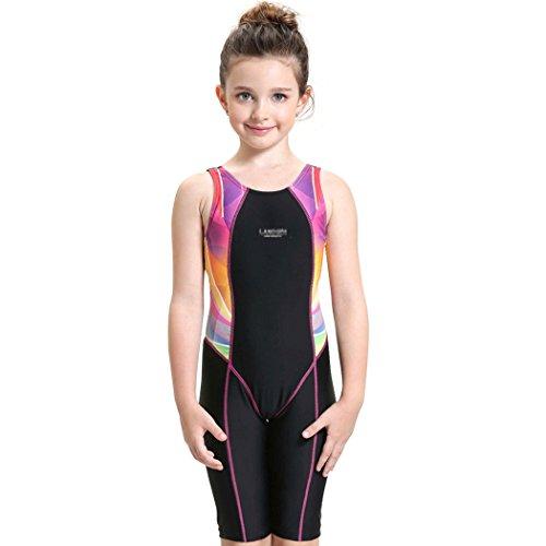 Peacocoワンピース水着キッズ・子供・ジュニアスイミングウェア女の子ワンピーススポーツ水泳競技学校スイムスーツスクール水着