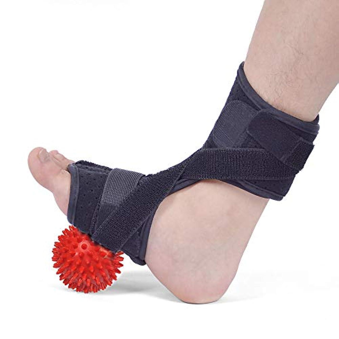 プレーヤー迫害する誠実さ足の筋膜炎の夜間副木、足垂れ整形外科の手入れ、左右の足に適している、PVC製ボールを使った夜間足の補助、すべてのコード、腱炎、関節炎