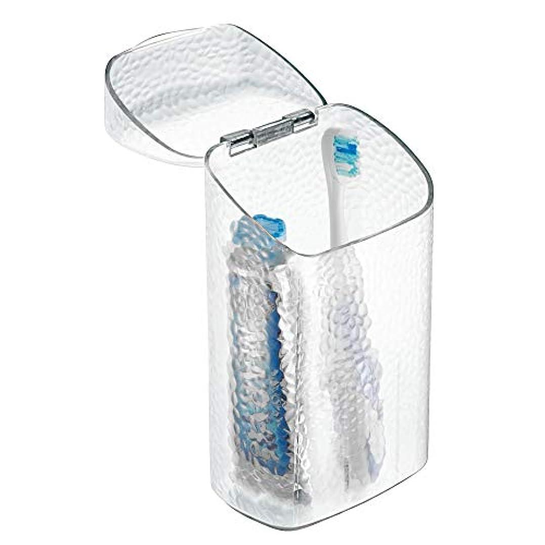 余韻トランクライブラリ試みるInterDesign Rain Dental Center Toothbrush and Toothpaste Holder/Case - Clear by InterDesign