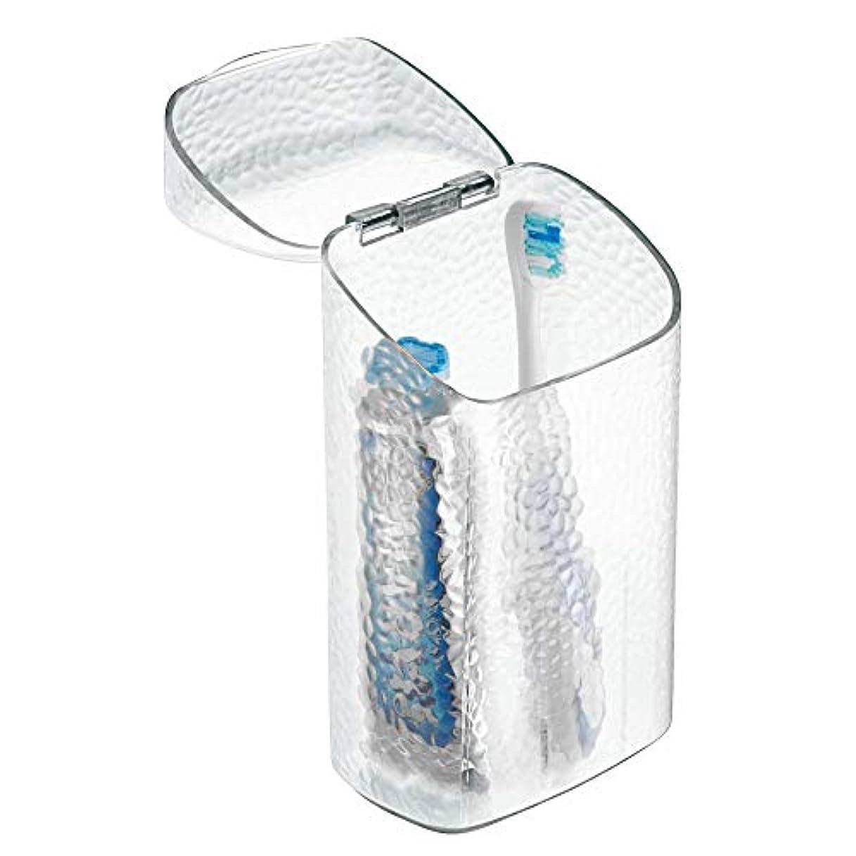 賄賂役立つ毛細血管InterDesign Rain Dental Center Toothbrush and Toothpaste Holder/Case - Clear by InterDesign [並行輸入品]
