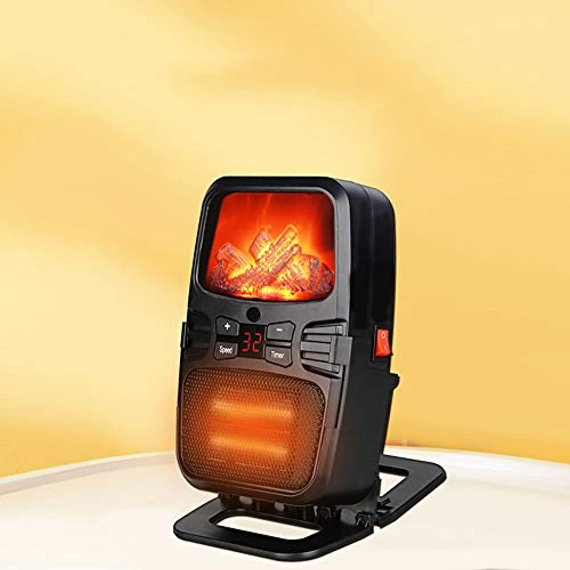 休暇気味の悪いアルバニーDEJA オフィスとホームのリモートコントロール電動パーソナルヒーター過熱およびチルトセキュリティで保護されたセラミックスペースヒーター
