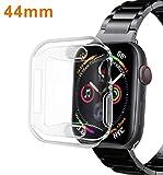 「【2個セット】VICARA compatible Apple Watch series 4 ケース 新型 全面保護 Apple Watch 44mm カバー TPU素材 柔らかい 耐衝撃 脱着簡単 ア...」のサムネイル画像