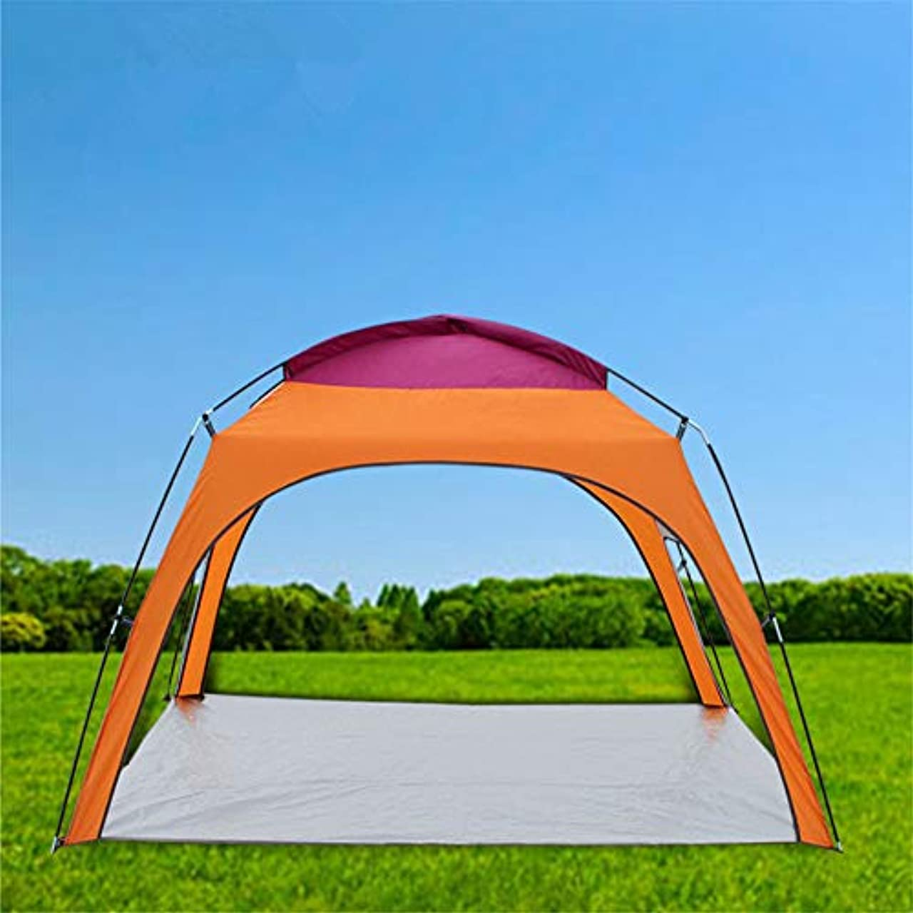 シリーズ延期する屋外3-4人キャンプビーチテント日焼け止め防雨キャノピー210×180×130センチメートルA