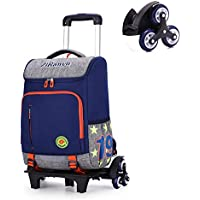 Rolling Backpack, Rolling Backpack for Girls & Boys, Carry on Trolley Luggage Suitcase Compact School Bag,Bluesixwheels