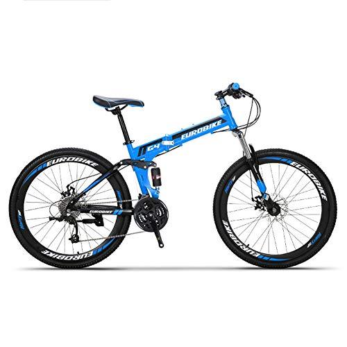 HLMIN 折りたたみ自転車21の速度の完全な懸濁液の自転車...