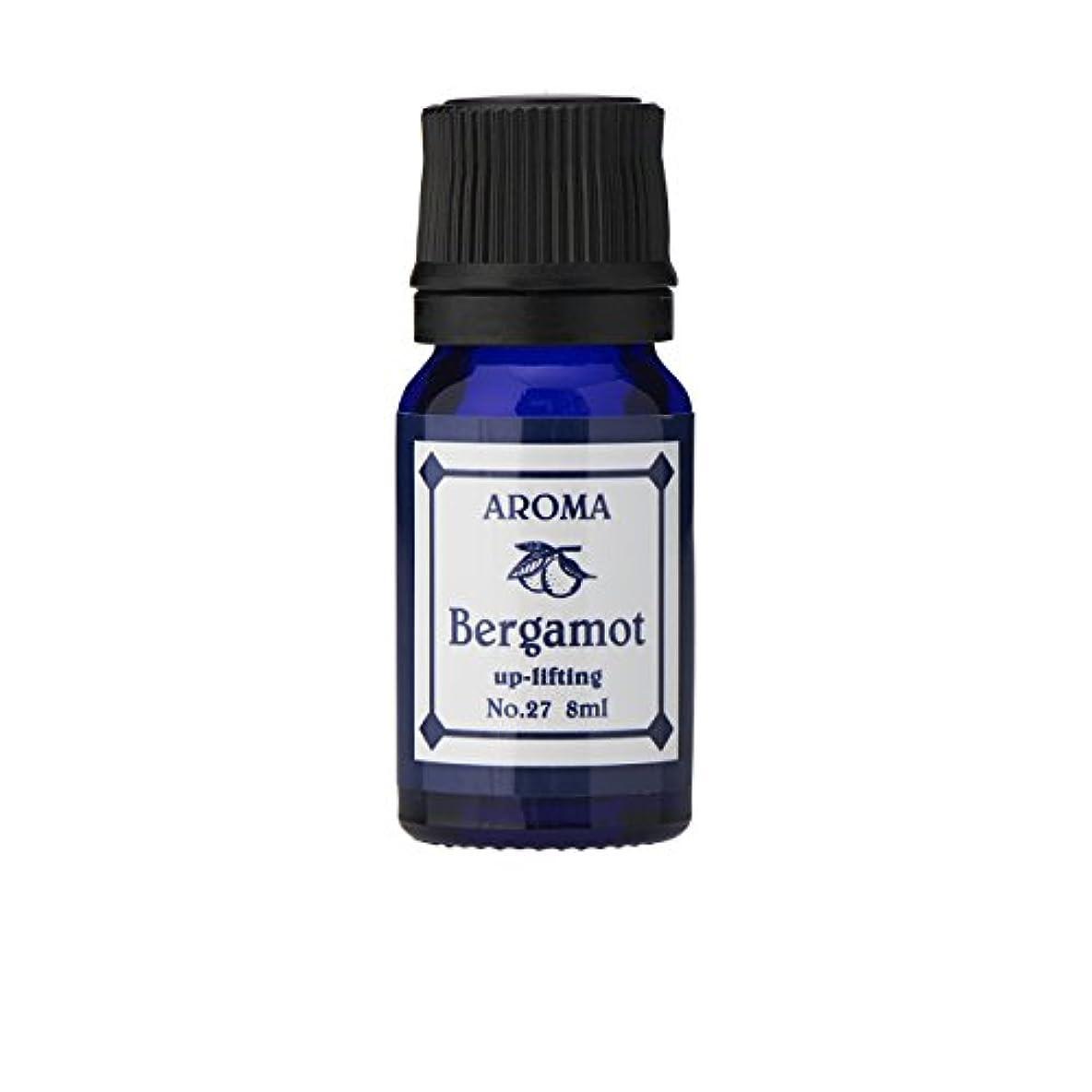 フロンティア人気の第ブルーラベル アロマエッセンス8ml ベルガモット(アロマオイル 調合香料 芳香用)