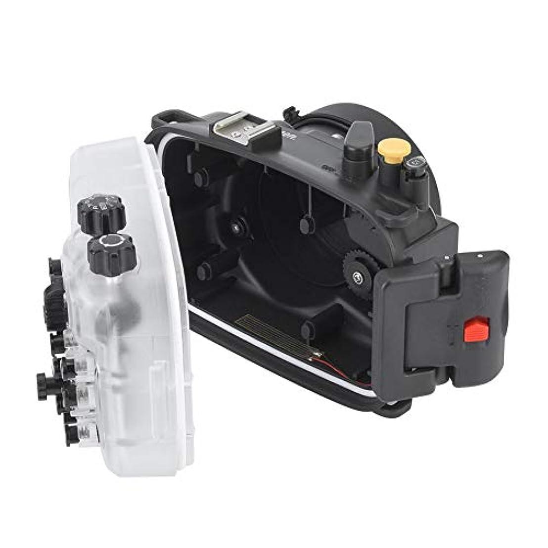 無効アメリカ可動式Mugast カメラケース 130フィート/40m 防水 水中 耐久性 カメラハウジング ダイビングケース 保護カバースキン ダブルシールリング付き A6400カメラ用
