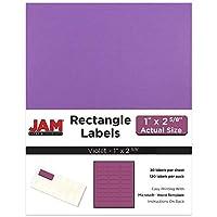 JAM Paper Mailing Address Labels - Small - 1 x 2 5/8 - Violet - 30 Labels per Page/120 Labels Total [並行輸入品]