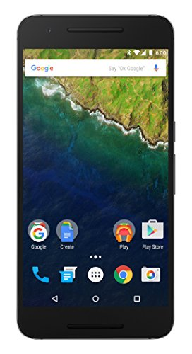 Huawei Google Nexus 6P 32GB 5.7-Inch Reversible USB Type-C 4G LTE Factory Unlocked (Graphite Gray) - International Stock No Warranty by Huawei