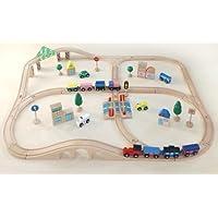 木製おもちゃのだいわ 汽車レールセット アドバンス 51pcs