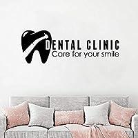 Hnzyf歯ヘルスケア壁デカール口腔病学サインウィンドウステッカー歯科医院ロゴ壁ポスターケア用あなたの笑顔の壁の装飾57×20cm