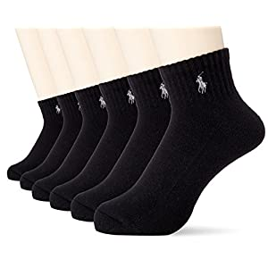 [ポロ ラルフ ローレン]靴下 6足セット メンズ BLACK US F (FREE サイズ) [並行輸入品]