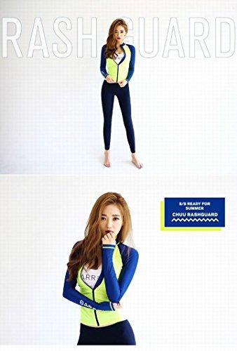 1070-8025 (XL): レディース ラッシュガード 4点セット 大きいサイズ 長袖 上下セット ビキニ ロング パンツ 女性水着 UVカット パーカー 水着 日焼け止め 体型カバー (XL)