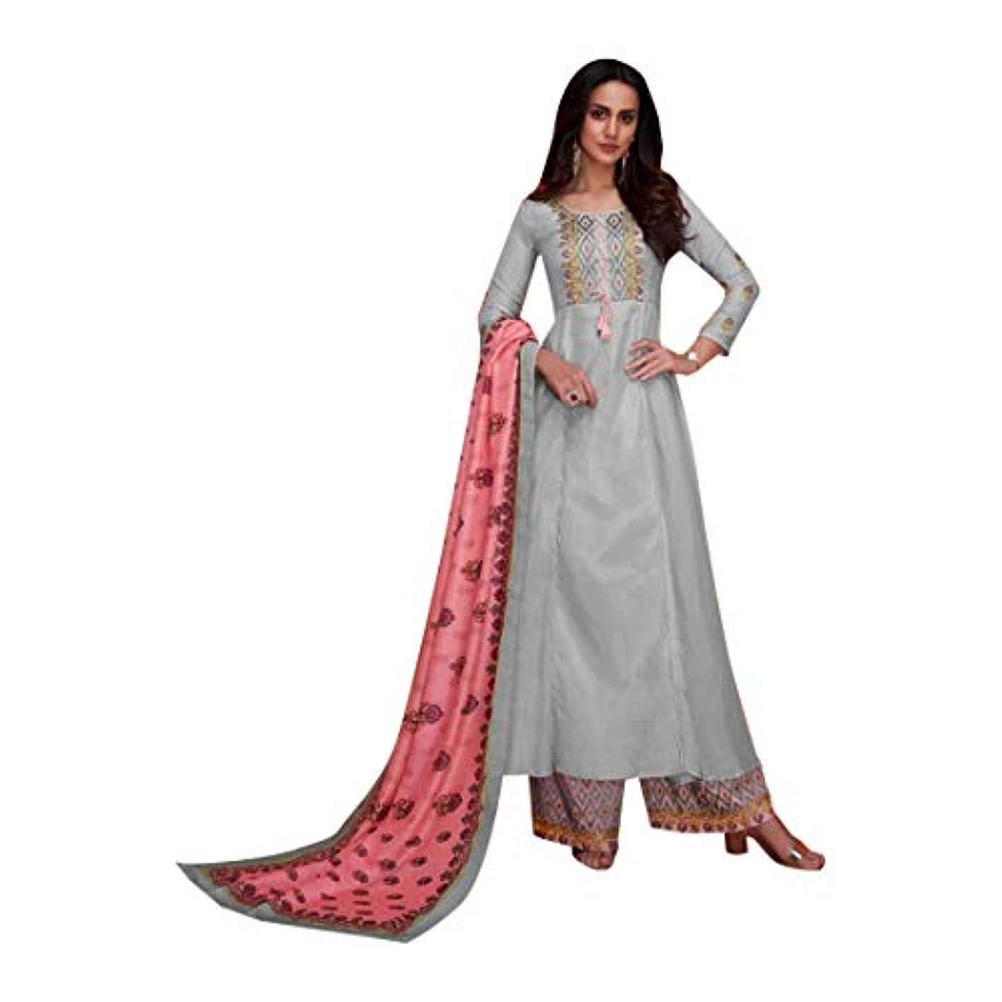 構造的降ろすミットIndian dress イスラム教徒の女性のパーティーウェアデザイナーヘビー刺繍モスリンパラッツォスーツインドのドレス 8418