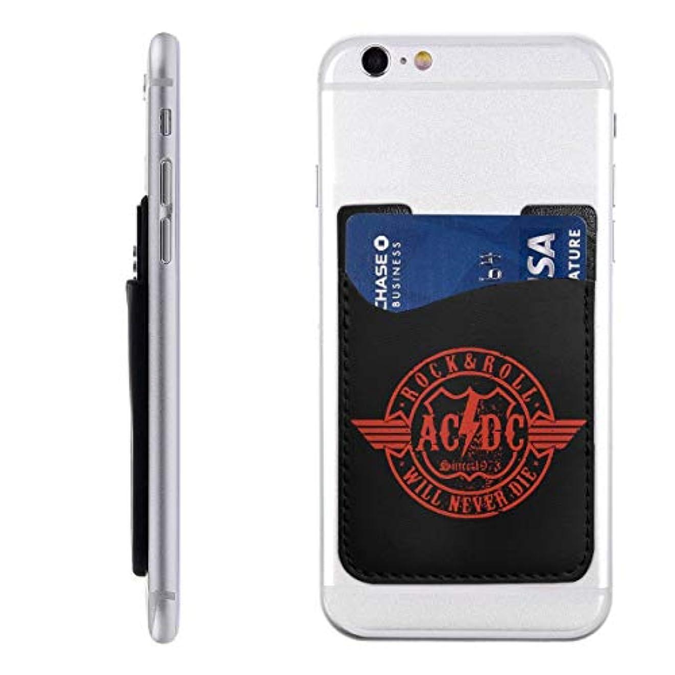 洞察力のある密度作り上げるPU スマホ カードケース 貼り付け ACDC スマートフォン ポケットカード カード収納 大容量 軽量 持ち運びが簡単 全機種対応 6.2X9CM