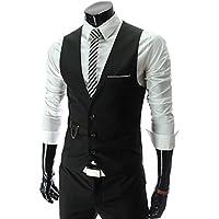 PXS Vest V-Neck Sleeveless Slim Fit Jacket Men Business Waistcoat