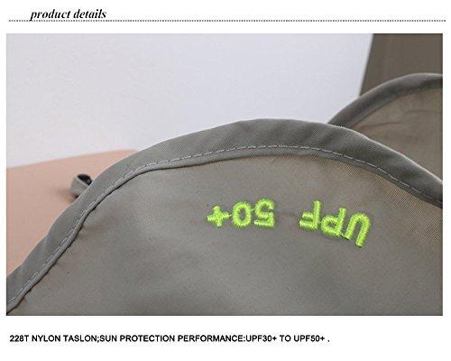 OZ_Mart 360 Degree Sun Block Cap UV 50+ Camping Fishing Hiking Hat Foldable & Removable (Khaki)