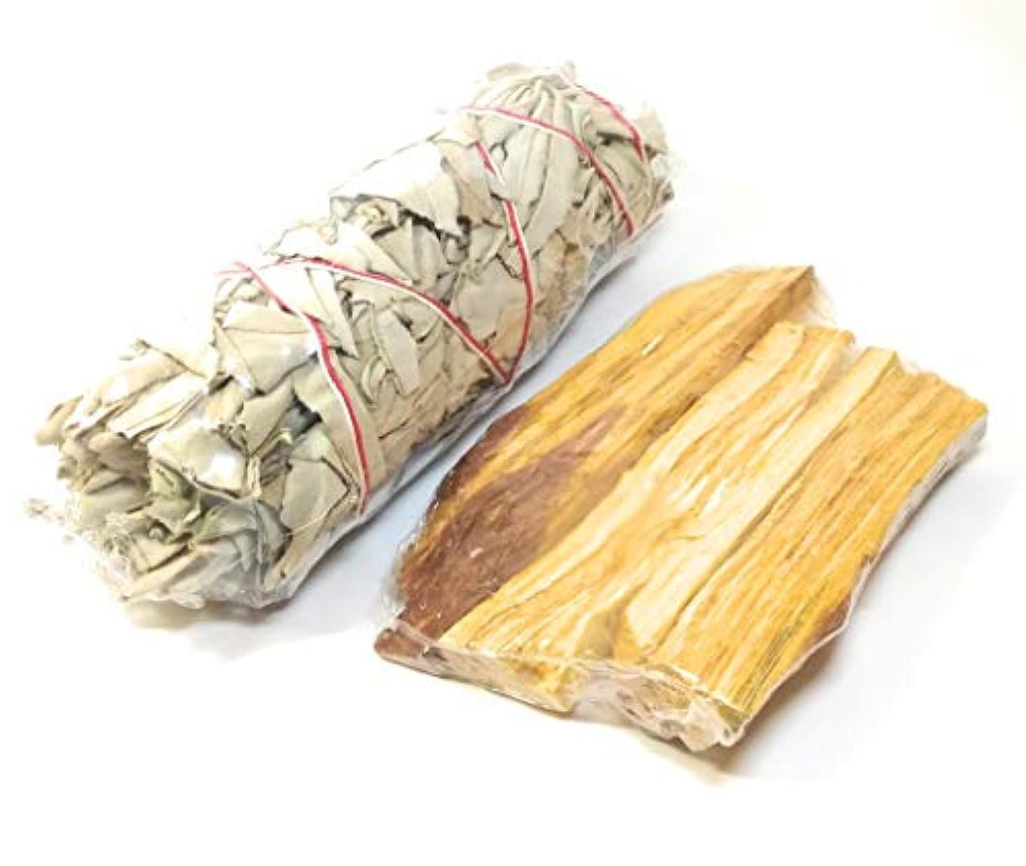 緩むフック想像するペルーのPalo Santo(40-45 g)+ California White Sage Incense 5